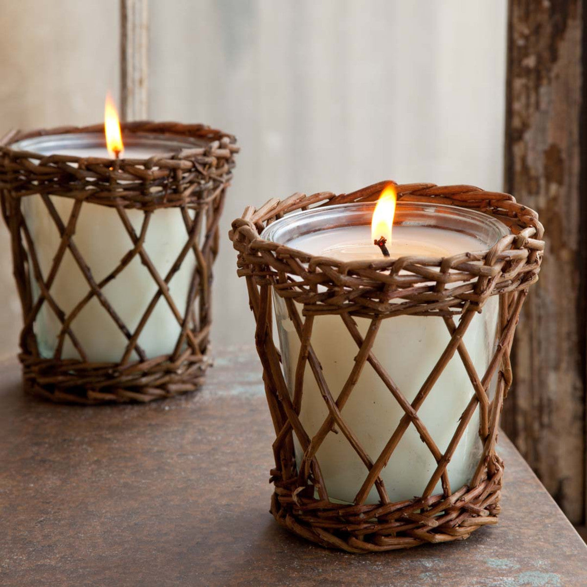 (W) Tall Cotton Willow Candle