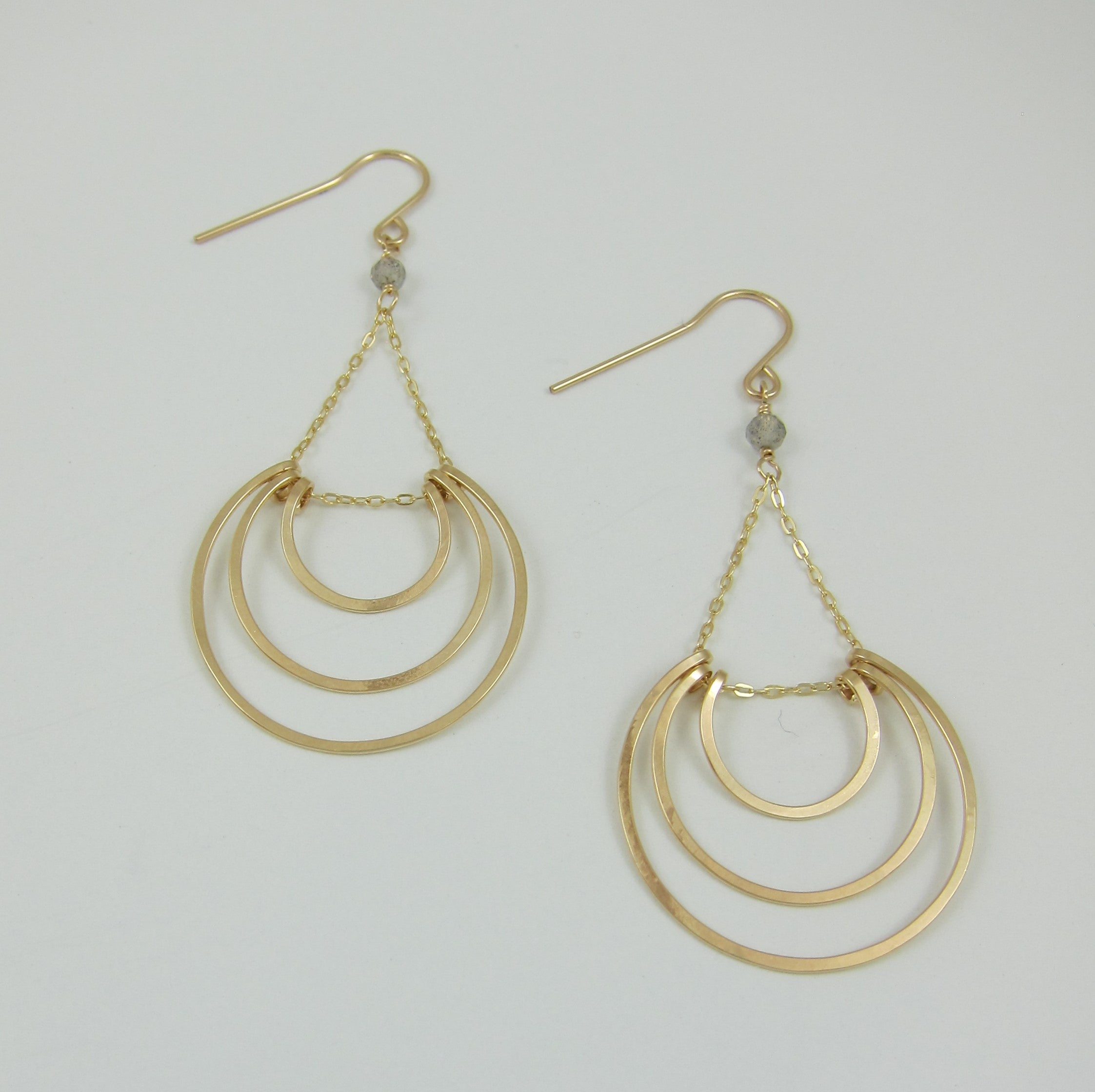 14kg Hand-Forged Crescent Earrings
