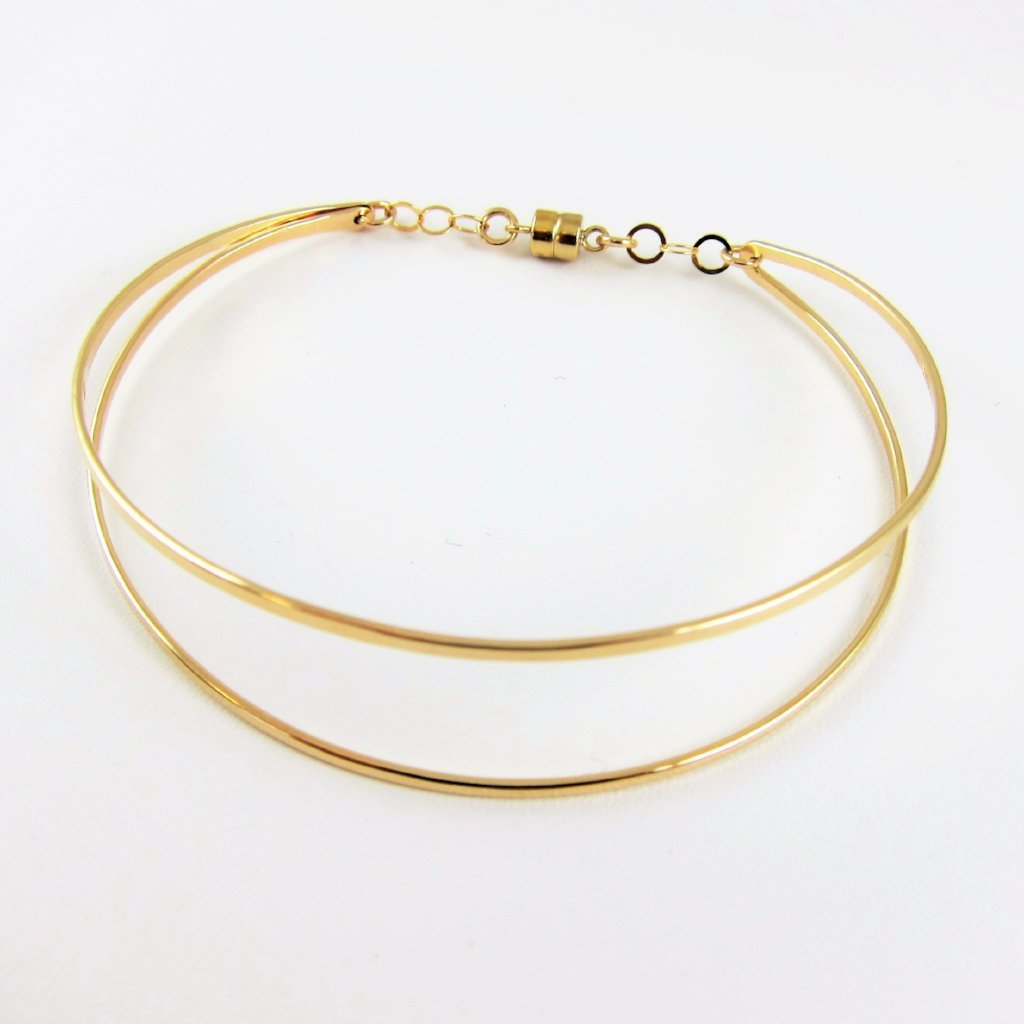 14kg Double Bar Cuff Bracelet with Magnetic Clasp