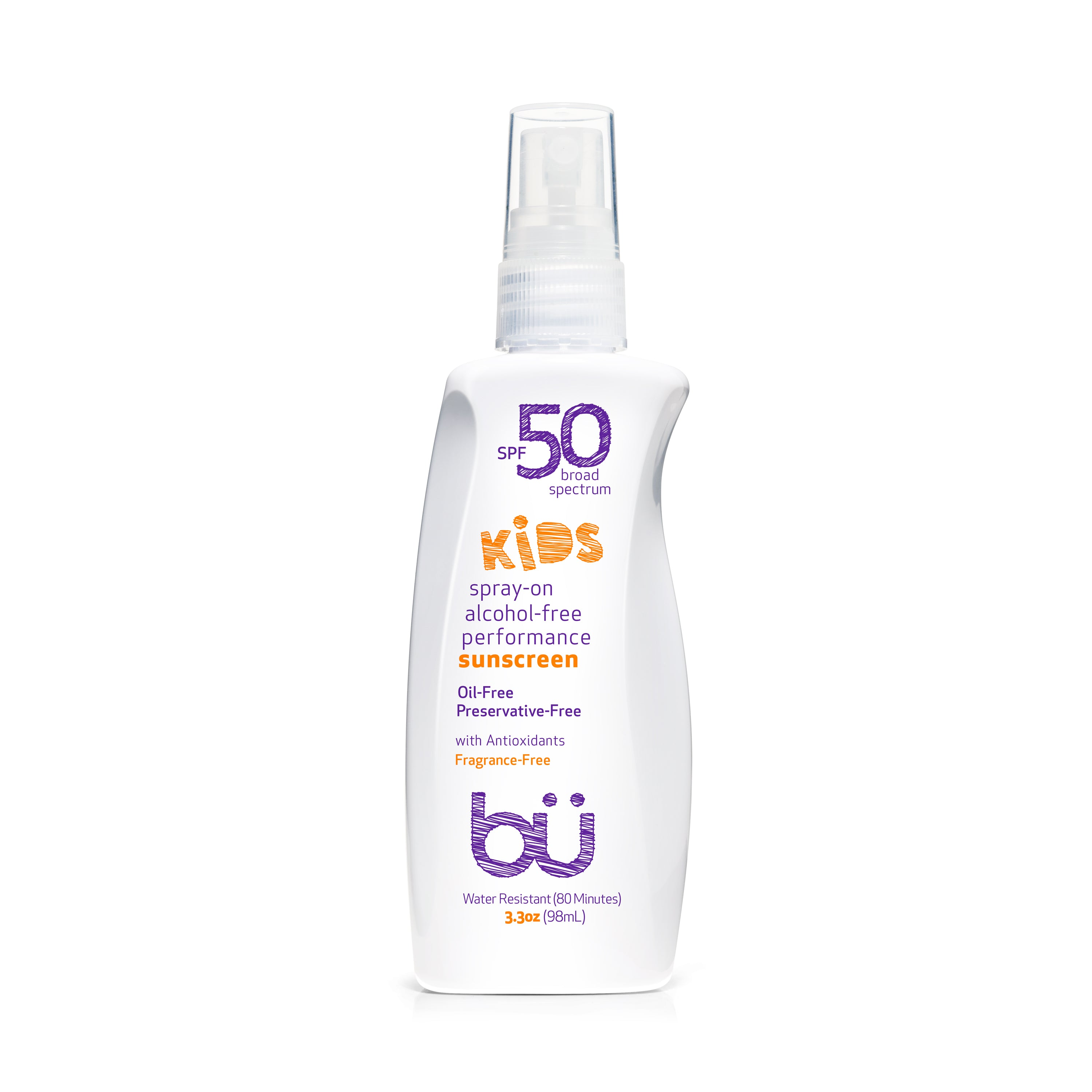 Bu SPF 50 KIDS Fragrance Free Sunscreen Spray 3.3oz