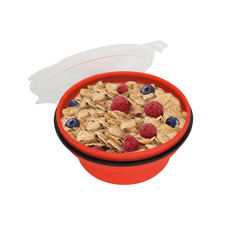Lexngo Silicone Collapsible Cereal Box 矽膠密封可摺疊食物盒(矮)
