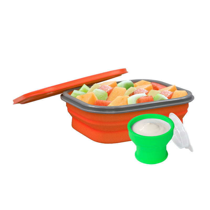 Lexngo Silicone Collapsible Lunch Combo(L) 矽膠飯盒套裝(大)
