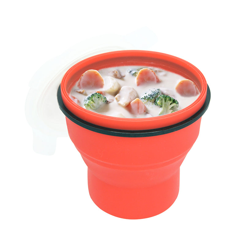 Lexngo Silicone Collapsible Soup Box 矽膠密封可摺疊食物盒 (高)