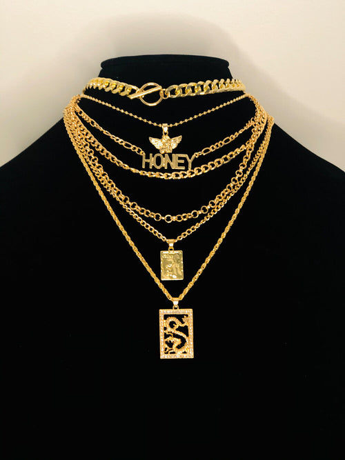 Heavenly Layers Gold Necklaces