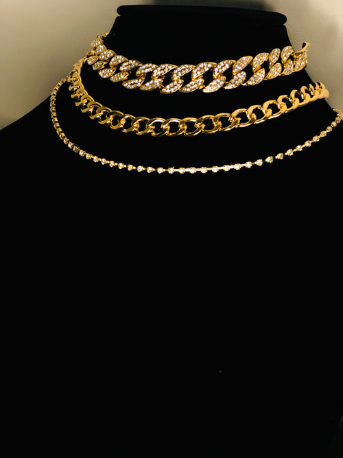 Gold Flex Layering Necklaces