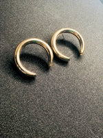 Upside Down Gold Hoop Earrings