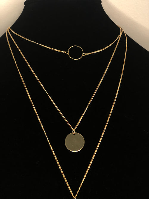 Subtle Gold Layering Necklaces