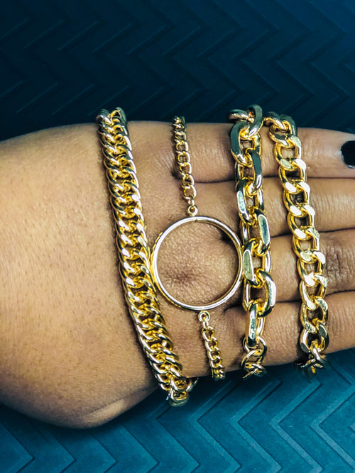 All About Stacks Gold Bracelets