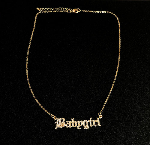 I'm His Babygirl Rhinestone Necklace