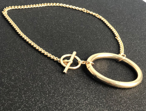 Round and Round Gold Necklace