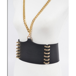 Faux Leather Body Belt