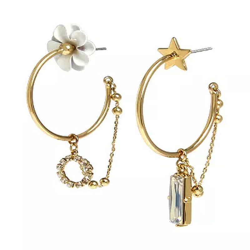 Flower & Star BCBGeneration Hoop Earrings