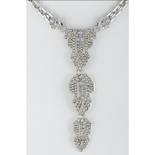 Icy Drop Rhinestone Necklace