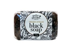 Green Goodies Organic Black Soap 175g