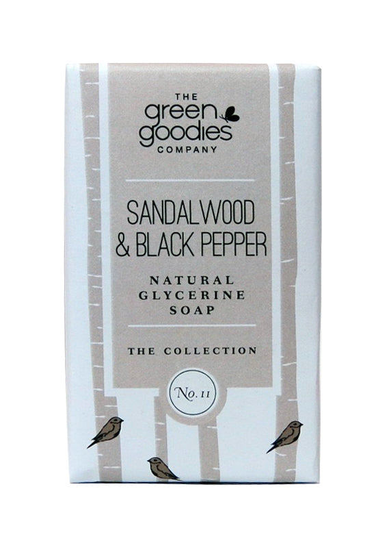 Green Goodies Sandalwood & Black Pepper Natural Glycerine Soap