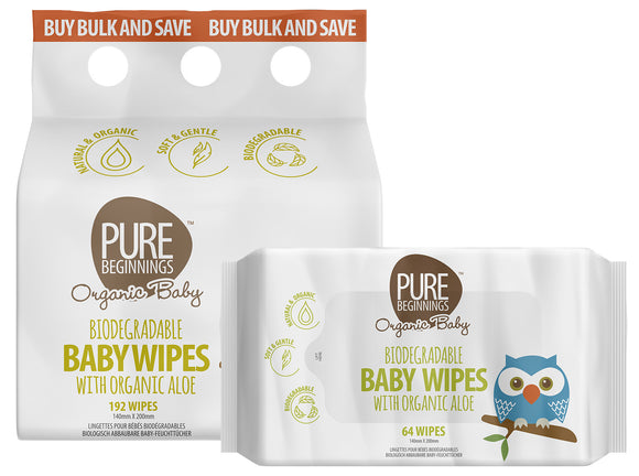 Pure Beginnings Baby Wipes Bulk Size
