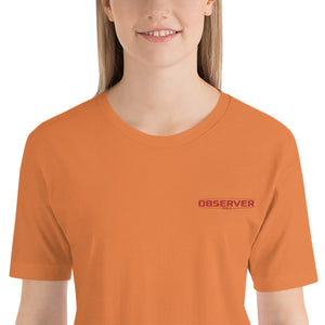 Women's Classic-Fit T-Shirt - Orange Embroidered Logo - Observer Tools