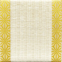 Tatami Coaster Hemp Leaves (Gold)
