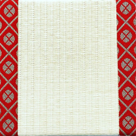 Tatami-Mat Coaster, Small Pattern Kourai (Red)