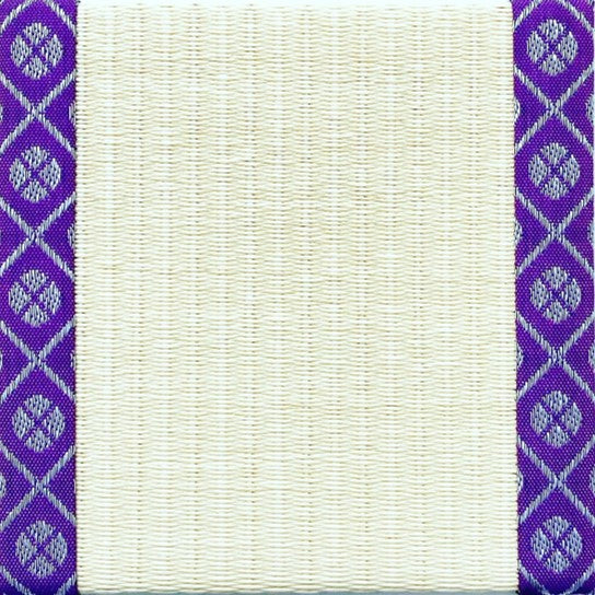 Tatami-Mat Coaster, Small Pattern Kourai (Purple)