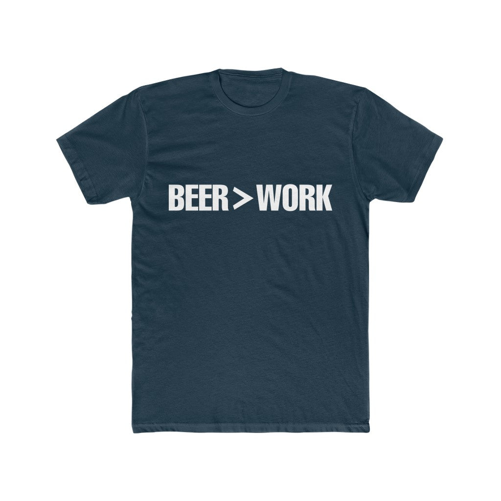 BEER>WORK Cotton Crew Tee