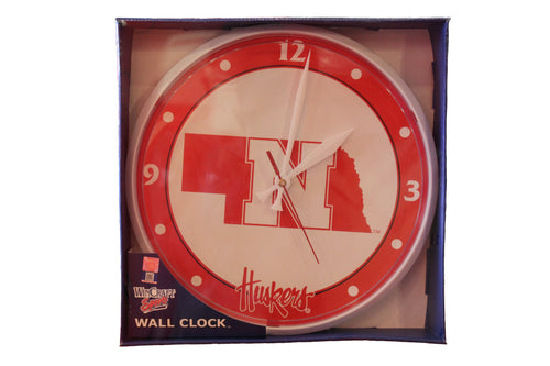 Nebraska Round Wall Clock
