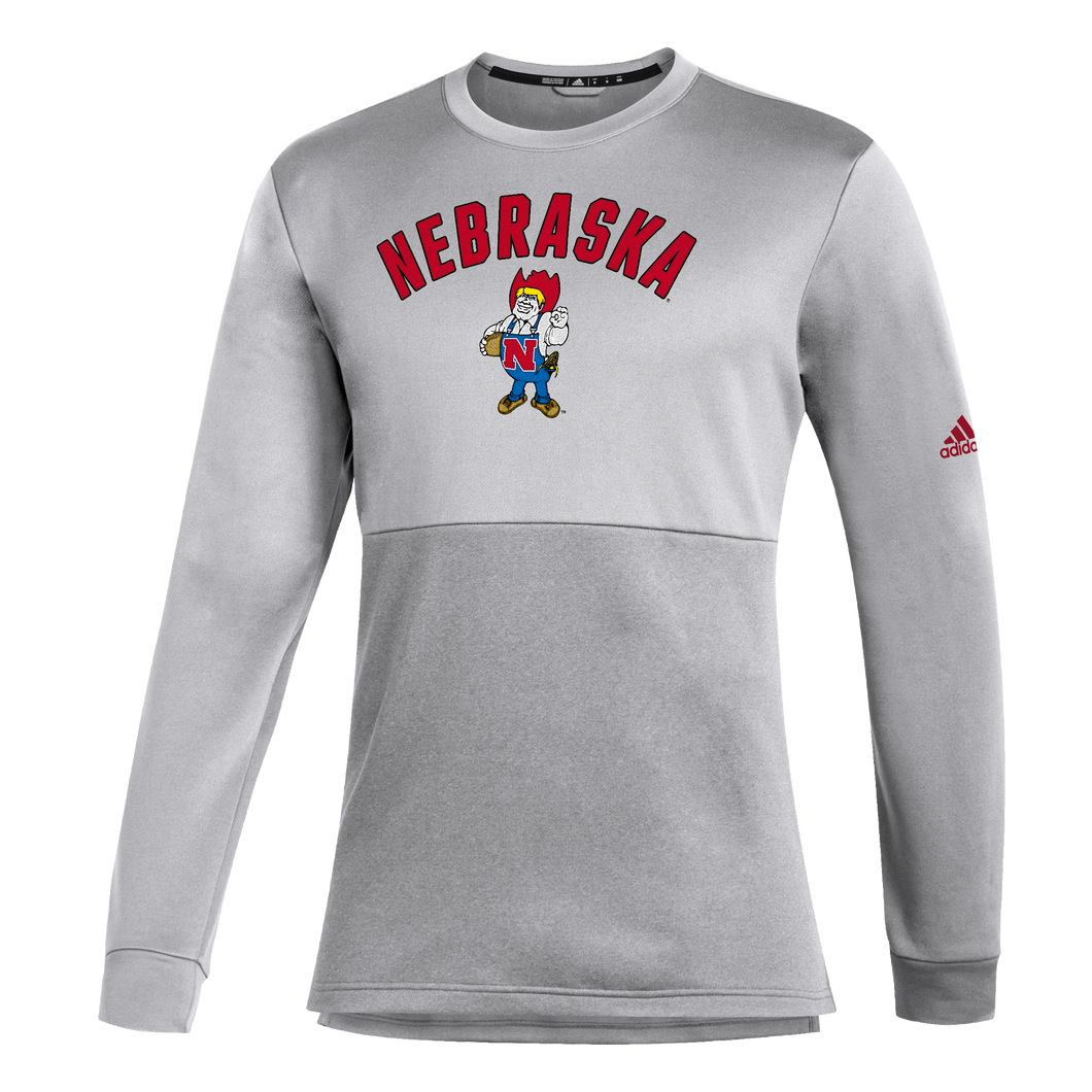 Nebraska Men's Adidas Letterman Team Issues Crew