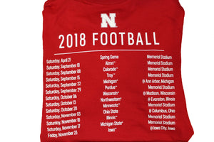 Nebraska Men's 18 Schedule Football Tee *SALE*