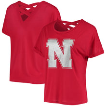 Load image into Gallery viewer, Nebraska Women's Lucy Strappy T-Shirt - Scarlet