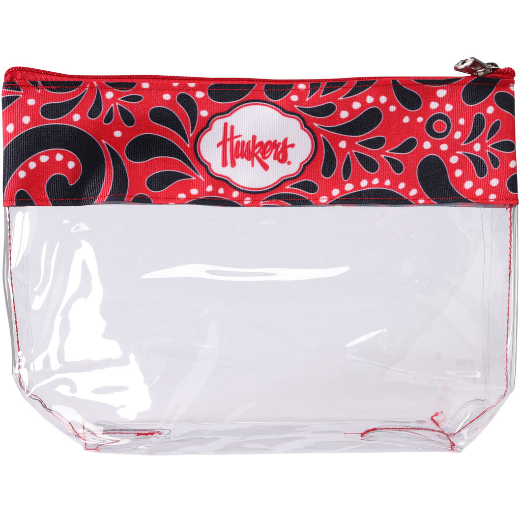 Nebraska Clear Travel Pouch