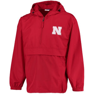 Nebraska Men's Pack N Go 1/4 Zip Jacket - Red
