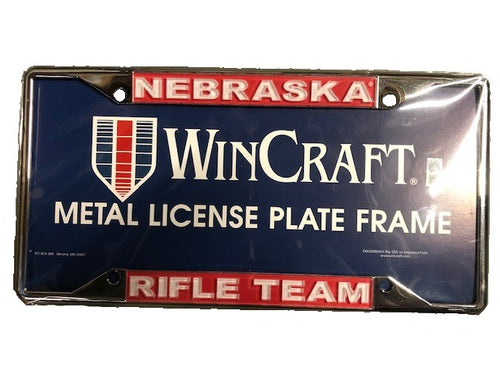 Nebraska Rifle Team License Frame