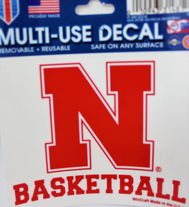 Nebraska Sport Decal Basketball