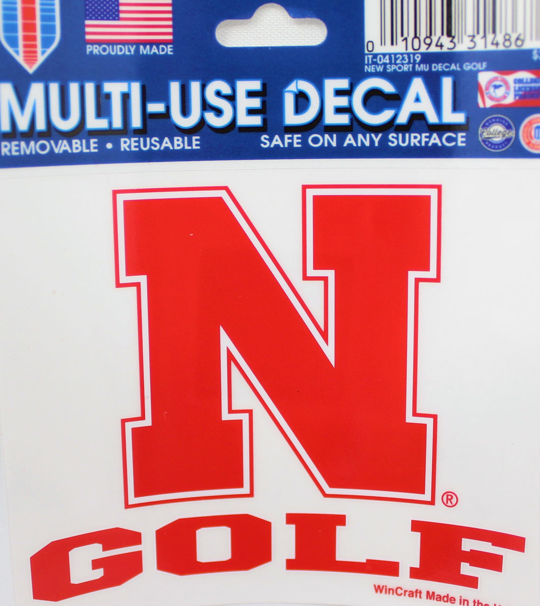 Nebraska Sport Decal Golf