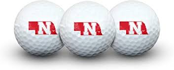 Nebraska 3pc Golf Ball