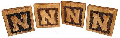 Nebraska Logo Coaster Set
