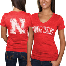 Load image into Gallery viewer, Nebraska Women's Slab Sherif V-Neck