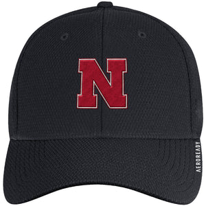 Nebraska Men's Adidas Sideline Coach AEROREADY Sized Hat