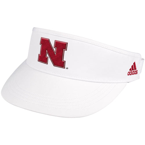 Nebraska Men's Adidas Sideline Coach Adjustable Visor