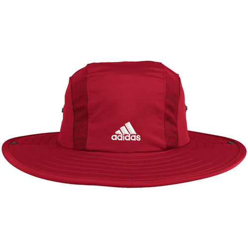 Nebraska Men's Adidas Scarlet Sideline AEROREADY Safari Hat