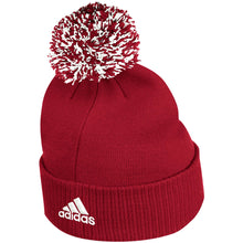 Load image into Gallery viewer, Nebraska Men's Adidas Scarlet Sideline Coaches Cuffed Knit Hat with Pom