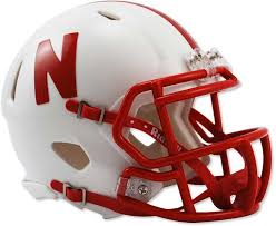Nebraska Riddell Speed Mini Helmet