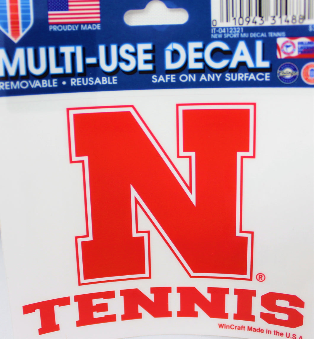 Nebraska Sport Decal Tennis