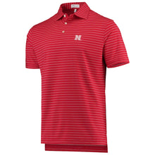 Load image into Gallery viewer, Nebraska Men's Trophy Stripe Polo