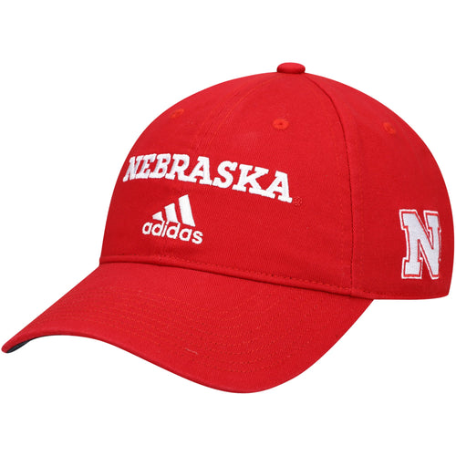 Nebraska Men's Wordmark Red Hat-Adjustable