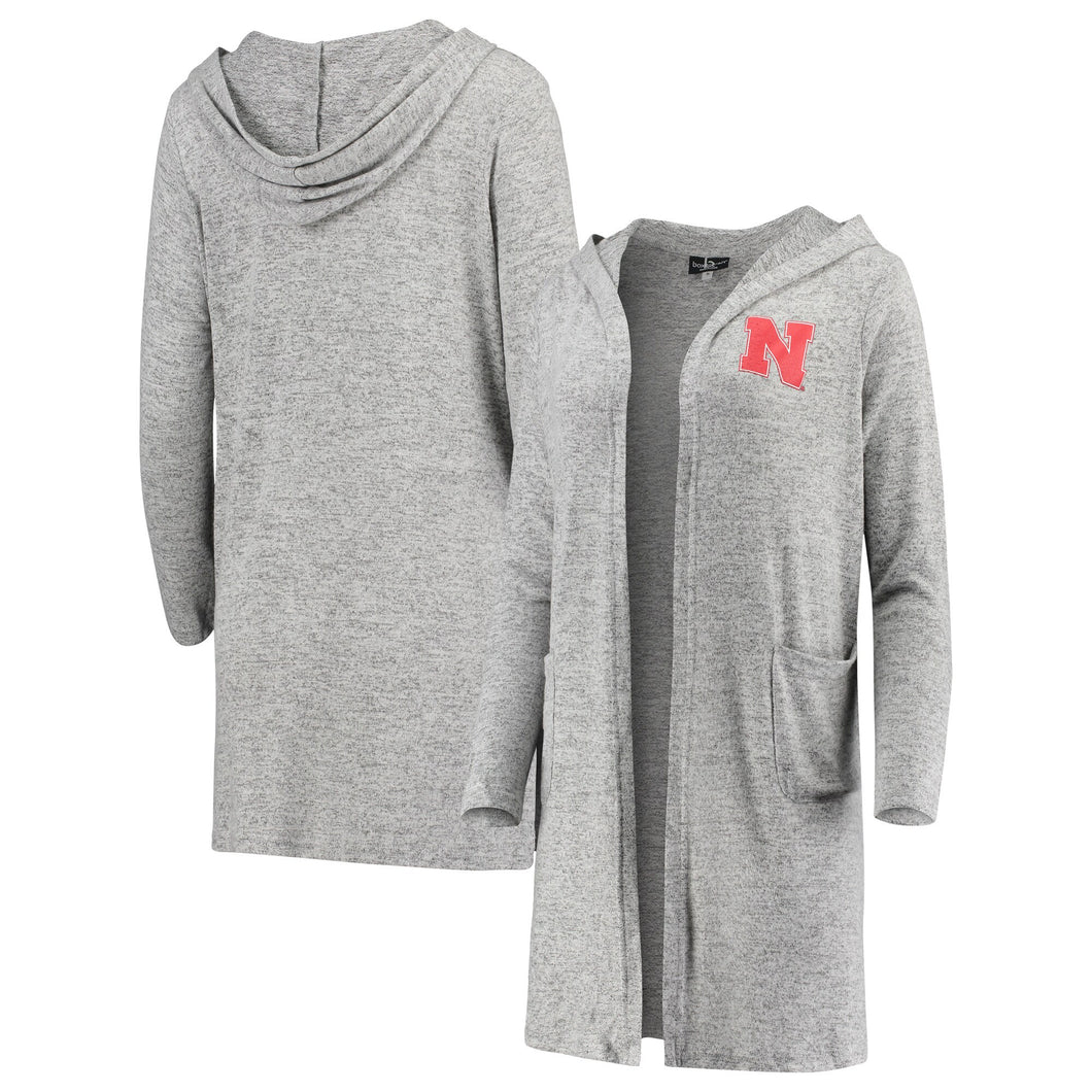 Nebraska Women's Cuddle Duster Cardigan Gray