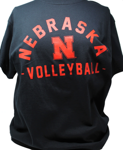 Nebraska Men's Arch Mascot - Volleyball - Short Sleeve tee