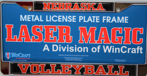 Nebraska Volleyball Plate Frame