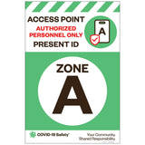 "Access Point Zone A, for Sandwich Board (24""x36"")"