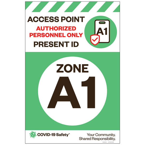 "Access Point Zone A1, for Sandwich Board (24""x36"")"